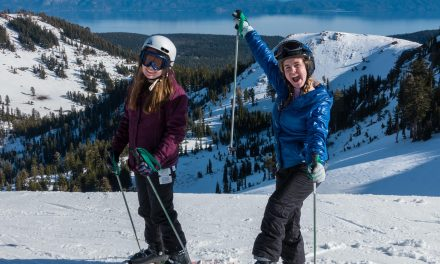 Teenage girls and skiing.