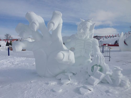 One of the many snow sculptures.