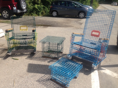 Cool stuff: chairs made out of lobster pots!