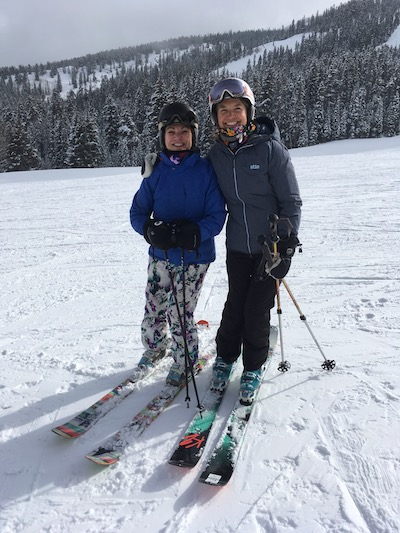 The Ski Diva and the Brave Ski Mom.
