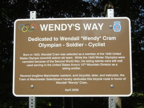 Sign for Wendy's Way Bike Path, Manchester, VT
