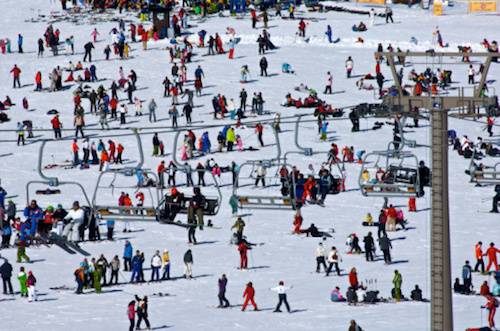 How to survive skiing during the holidays.